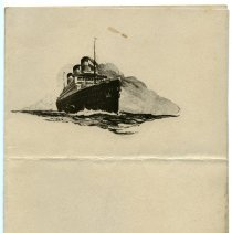 Image of pg [1], front cover - United States Lines; page [2] blank