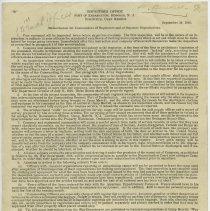 Image of Memorandum, Port of Embarkation, Sept. 20, 1918