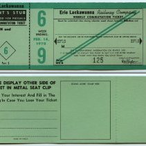 Image of front and back of typical ticket (6, week ending Feb. 14, 1970)