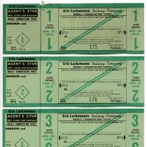 Image of front: weekly commutation tickets; week 1 ticket to week 5 ticket, 1970