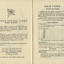 Image of pp [28-29]: New York Taxi Rates; From Hoboken To N.Y.; To Brooklyn...