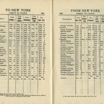 Image of pp [30-31]: (Sailing Schedule) To New York; From New York