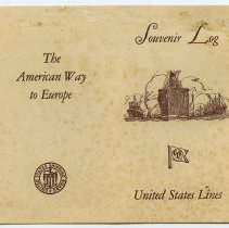 Image of outside: Souvenir Log, United States Lines (pages [1] + [4])