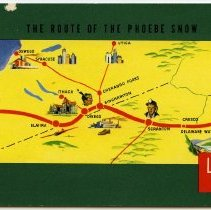 Image of pg [24] back cover, color map: The Route of the Phoebe Snow