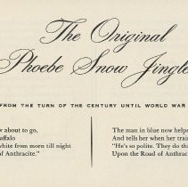 Image of pg [7] The Original Phoebe Snow Jingles. From Turn of the Century to WWI