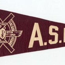 Image of Pennant, felt: Academy of the Sacred Heart, Hoboken, New Jersey. N.d., ca. 1950-1970. - Pennant