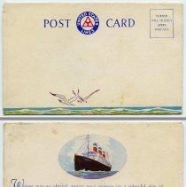 Image of Postcard: United States Lines souvenir folder postcard, (N.Y.), n.d., ca. 1924-1929. - Postcard