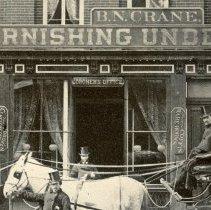 Image of detail 1, center: Hoboken Cemetery office; Coroner's Office; B.N. Crane
