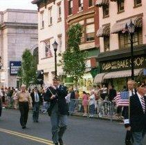 Image of Color photo of Grand Marshall(?), Veteran's Day Parade, Washington St. between 1st & Newark Sts., Hoboken, n.d., ca. May 1990-1995. - Print, Photographic