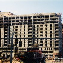 Image of Color photos, 2, of a view north or northeast of 333 River Street under construction, Hoboken, May 2001.
