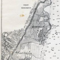 Image of detail of Jersey City and Hoboken