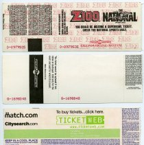 Image of reverse of all tickets (from top, 1 to 4)