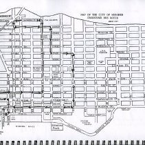 Image of pg [25] Map of the City of Hoboken Cross Town Bus Route