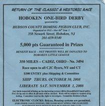 Image of Hoboken One-Bird Derby flier