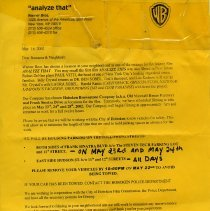 Image of Analyze That filming; notice to car owners