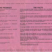 Image of handbill 1, side 2: text - The Promises; The Facts