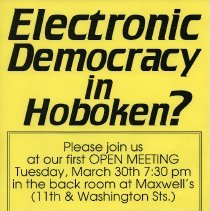 Image of flier for open meeting of ITCH, 1993