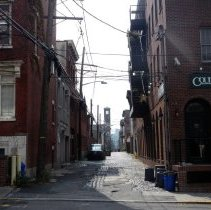 Image of Digital photos, 21, of Hoboken streetscapes taken Sept. to late Oct. 2013 by Darian Worden.  - Photograph