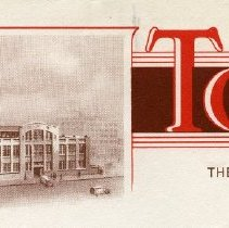 Image of detail of letterhead top, enhanced