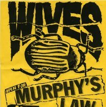 Image of Sign/flier: Wives. Opening for Murphy's Law, Maxwell's, Hoboken, N.J., Sun. Jan. 19 [1992]. - Sign