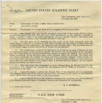 Image of 2: memo United States Atlantic Fleet