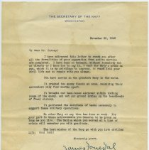 Image of 5: letter from The Secretary of the Navy, Nov. 29, 1945