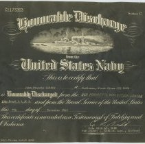 Image of 4: photostatic copy: John F. Carney Honorable Discharge Certificate, 1945