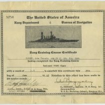 Image of 1: Navy Train Course Certificate, Radioman Third Class, 1942