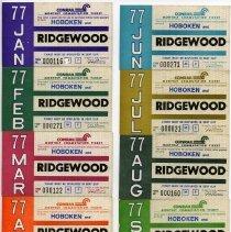 Image of Tickets, transportation, 11: Conrail Monthly Commutation Ticket, between Hoboken & Ridgewood, Jan.to Nov. 1977. - Ticket, Transportation