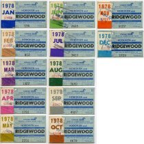 Image of 1978 Conrail monthly commutation tickets