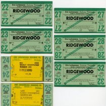 Image of seven 1970 weekly commutation tickets