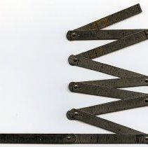 Image of Rule, folding pocket, 3 foot, metal: Keuffel & Esser Co., N.Y., n.d., ca. 1893-1927. - Rule, Folding