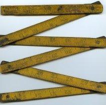 Image of Rule, folding pocket, 4 foot, wood: Keuffel & Esser Co., N.Y., n.d., ca. 1891-1894. - Rule, Folding