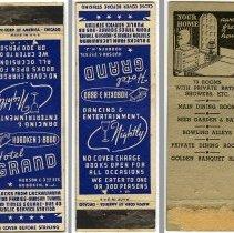 Image of Matchbook covers, 3, from various Hoboken hotels & restaurants, n.d., ca. 1920s-1940s. - Matchbook