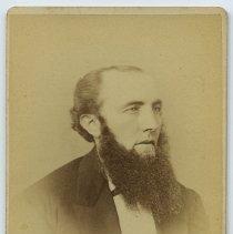 Image of Carte-de-visite: middle-aged man with long beard and formal wear, Hoboken, n.d., ca. 1875-1887. - Carte-de-visite