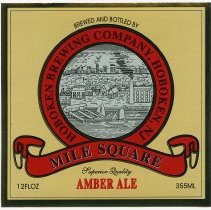 Image of typical front label: Hoboken Brewing Co., Mile Square, Amber Ale