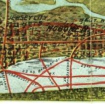 Image of map detail Hoboken, Jersey City, Jersey City Heights, West Hoboken