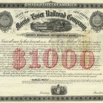 Image of bond certificate portion at top, cropped edges