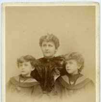 Image of Cabinet photo of a woman & two children, Hoboken, n.d., ca. 1892-1899. - Photograph, Cabinet