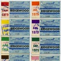Image of Ticket, transportation, 11: Conrail Monthly Commutation Ticket, between Hoboken & Ridgewood, Jan.-Feb.; April to Dec. 1979. - Ticket, Transportation