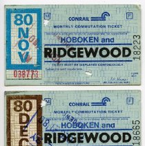 Image of November & December 1980 Conrail tickets