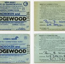Image of NJ DOT Jan 1980 monthly ticket; Conrail Nov. 1980 monthly ticket