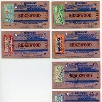 Image of 1983 six NJ Transit monthly commutation tickets