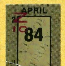 Image of detail label for April 1984