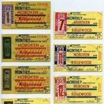 Image of 1984 seven NJ Transit monthly commutation ticket