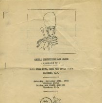 Image of Program: Annual Competition & Dance sponsored by G.I. Joes Fife, Drum & Bugle Corps, Hoboken, N.J.. Sat., Nov. 28, 1952. Stevens Stevens Forum, 9th & Garden Sts., Hoboken, N.J.  - Program