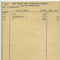 Image of insert 2: toll call and other services; charge details and total