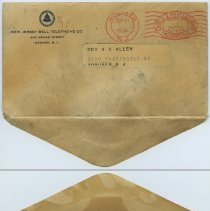 Image of envelope: front and back (bottom opening flap)