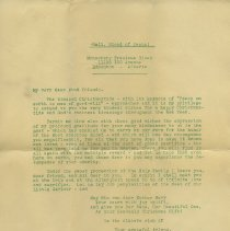 Image of 3: enclosure 5, full page mimeographed letter dated Christmas 1934
