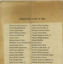 Image of pg [4] Graduating Class of 1922